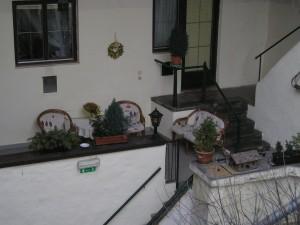 Verstecke Plätze im Innenhof